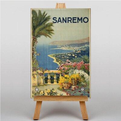 Big Box Art San Remo Vintage Advertisement on Canvas