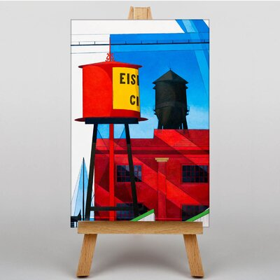 Big Box Art Water Tower by Charles Demuth Graphic Art on Canvas