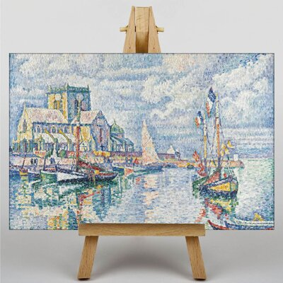 Big Box Art Boats by Paul Signac Art Print on Canvas
