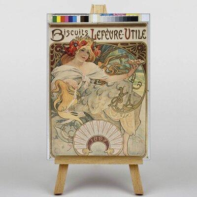 Big Box Art Biscuits by Alphonse Mucha Vintage Advertisement on Canvas