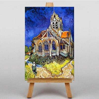 Big Box Art Church at Auvers by Vincent Van Gogh Art Print on Canvas