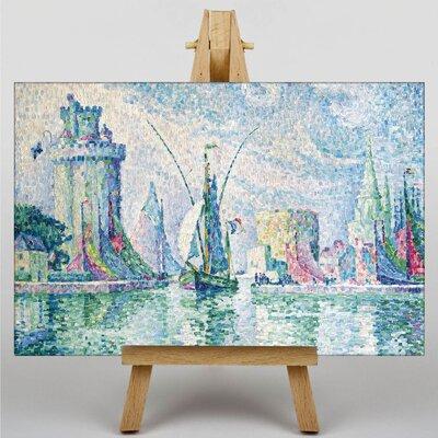 Big Box Art Green Towers the Rochelle by Paul Signac Art Print on Canvas