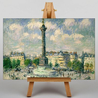 Big Box Art Gustave Loiseau The Place of the Bastille by Gustave Caillebotte Art Print on Canvas