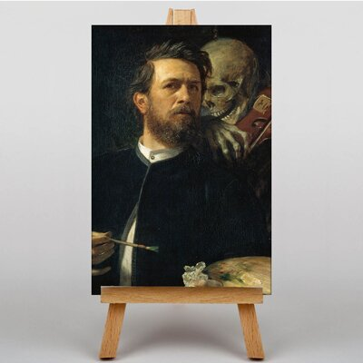 Big Box Art Self Protrait, Death Playing the Fiddle by Arnold Bocklin Art Print on Canvas