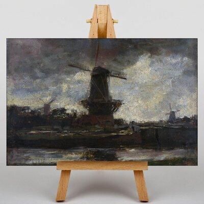 Big Box Art Three Windmills No.2 by Jacob Maris Art Print on Canvas