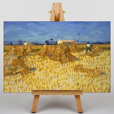 Big Box Art Corn Harvest in Province by Vincent Van Gogh Art Print on Canvas