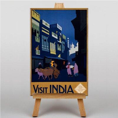 Big Box Art Visit India Vintage Advertisement on Canvas