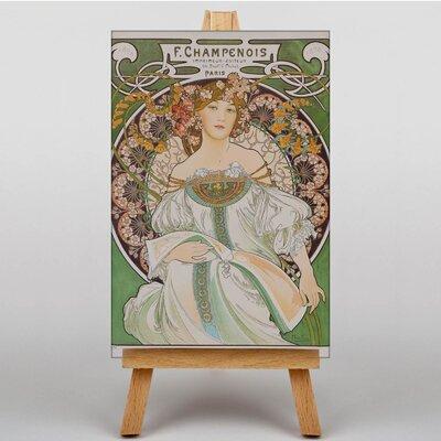 Big Box Art Champenois by Alphonse Mucha Graphic Art on Canvas