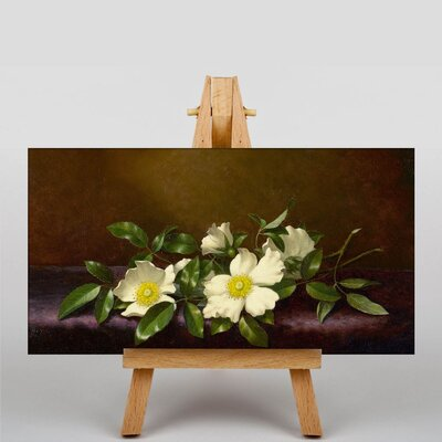 Big Box Art Cherokee Roses by Martin Johnson Heade Art Print on Canvas