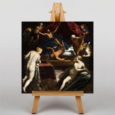 Big Box Art Hercules Expelling the Faun by Jacopo Comin Tintoretto Art Print on Canvas