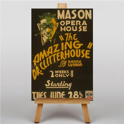 Big Box Art The Amazing Dr Clitterhouse Vintage Advertisement on Canvas