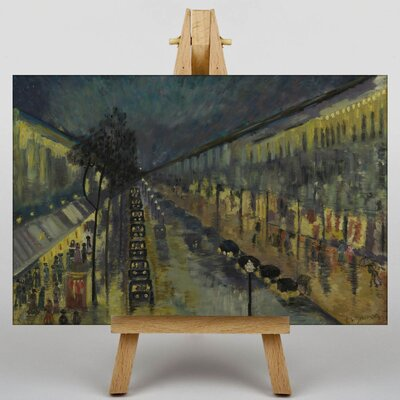 Big Box Art Paris, the Boulevard Montmartre at Night by Camille Pissarro Art Print on Canvas