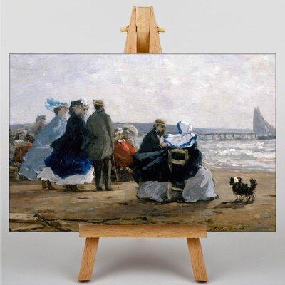 Big Box Art Beaulieu, the Bay of Fourmis by Eugene Boudin Art Print on Canvas
