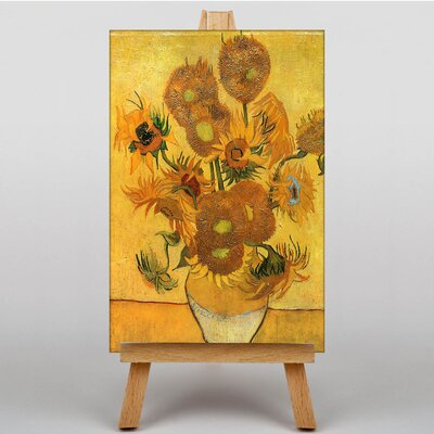 Big Box Art Fifteen Sunflowers by Vincent Van Gogh Art Print on Canvas