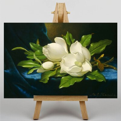 Big Box Art Giant Magnolias by Martin Johnson Heade Art Print on Canvas