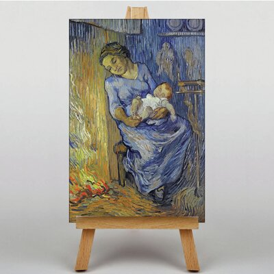 Big Box Art Mother with Child by Vincent Van Gogh Art Print on Canvas