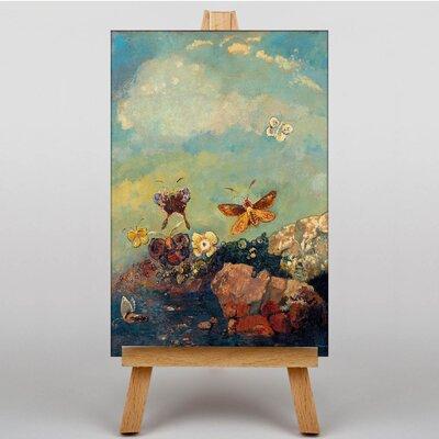 Big Box Art Butterflies by Odilon Redon Art Print on Canvas