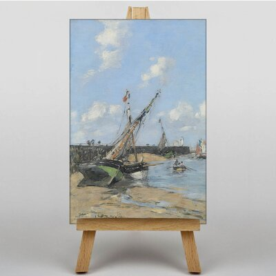 Big Box Art Maree Jetty by Eugene Boudin Art Print on Canvas