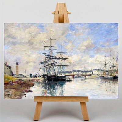 Big Box Art Shipe at Anchor by Eugene Boudin Art Print on Canvas