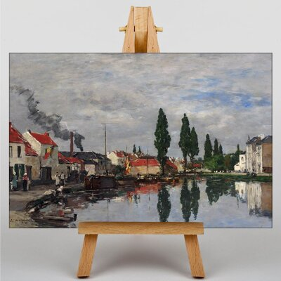 Big Box Art The Lake town by Eugene Boudin Art Print on Canvas