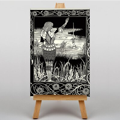 Big Box Art Excalibur in the Lake by Aubrey Beardsley Art Print on Canvas