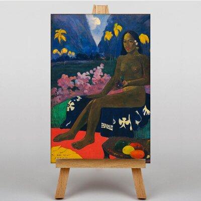 Big Box Art Seated Woman by Paul Gauguin Art Print on Canvas
