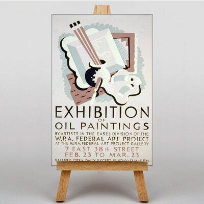 Big Box Art Exhibition No.27 Vintage Advertisement on Canvas