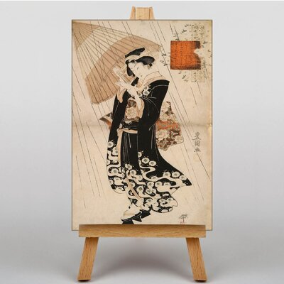 Big Box Art Japanese Oriental The Poetess by Utagawa Graphic Art on Canvas