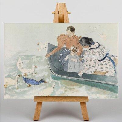 Big Box Art Feeding the Ducks by Mary Cassatt Art Print on Canvas
