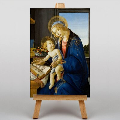 Big Box Art The Virgin and Child by Sandro Botticelli Original Painting on Canvas