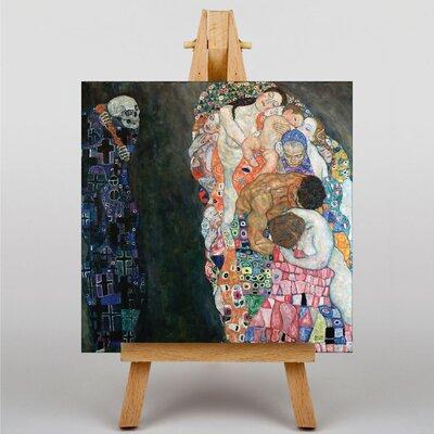 Big Box Art Death and Life by Gustav Klimt Art Print on Canvas