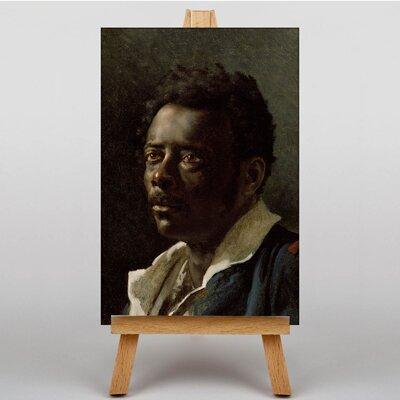 Big Box Art Man Portrait by Gericault Theodore Art Print on Canvas
