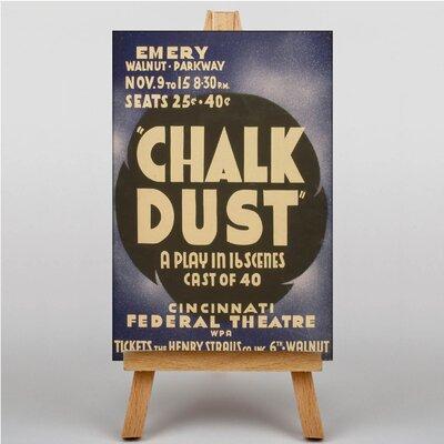 Big Box Art Chalk Dust Vintage Advertisement on Canvas