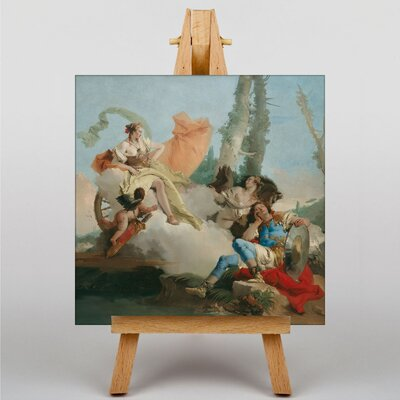Big Box Art Rinaldo Enchanted by Armida by Giovanni Battista Tiepolo Art Print on Canvas