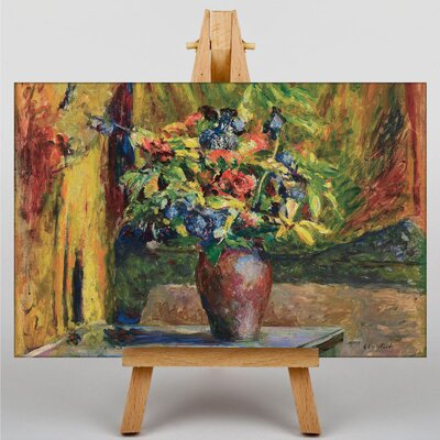 Big Box Art Vase of Flowers by Edouard Vuillard Art Print on Canvas