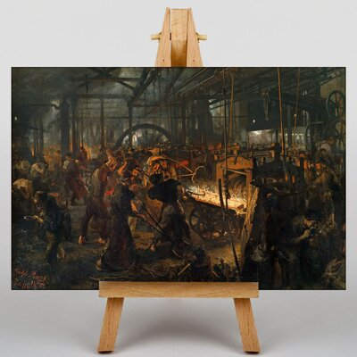 Big Box Art The Iron Rolling Mill by Adolph Menzel Art Print on Canvas