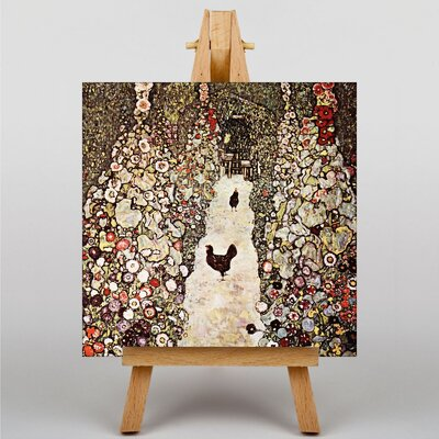 Big Box Art Garden with Chickens and Roosters by Gustav Klimt Art Print on Canvas