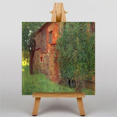 Big Box Art House in a Field by Gustav Klimt Art Print on Canvas