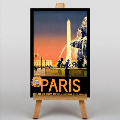 Big Box Art Paris No.1 Vintage Advertisement on Canvas