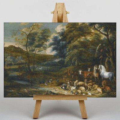 Big Box Art Landscape with Animals by Adriaen Van Ostade Art Print on Canvas