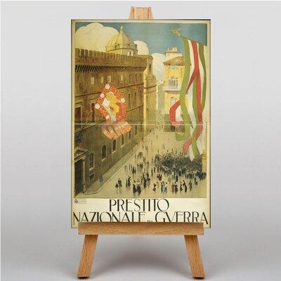 Big Box Art Plaza Italy Vintage Advertisement on Canvas