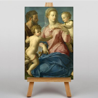 Big Box Art The Holy family by Agnolo Bronzino Art Print on Canvas