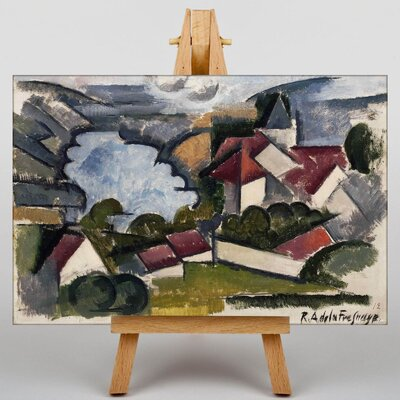Big Box Art French Landscape by Roger de la Fresnaye Art Print on Canvas