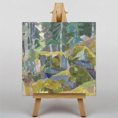Big Box Art Landscape with Trees by Alexander Bogomazov Art Print on Canvas