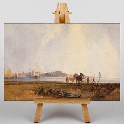 Big Box Art Landscape near Quilleboeuf by Richard Bonington Art Print on Canvas