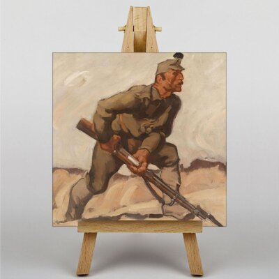 Big Box Art Soldier with Riffle by Albin Egger-Lienz Art Print on Canvas