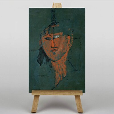 Big Box Art Testa Rossa by Amedeo Modigliani Art Print on Canvas