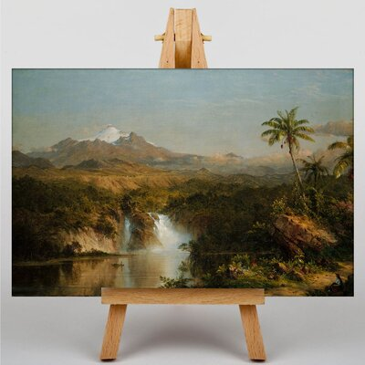 Big Box Art Church View of Cotopaxi by Frederic Edwin Art Print on Canvas