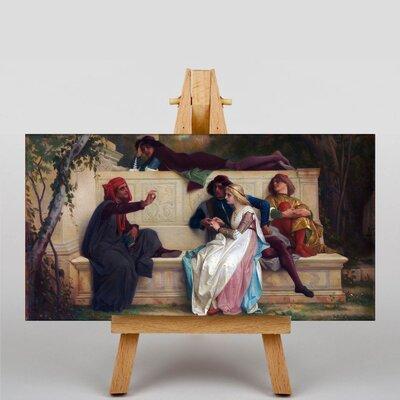 Big Box Art Florentine Poet by Alexandre Cabanel Art Print on Canvas