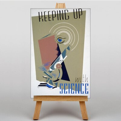 Big Box Art Keeping up with Science Vintage Advertisement on Canvas